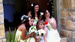The bridesmaids with Karen.