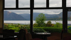 View from the dining room over the Loch