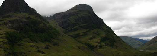 Along the A82 from Glencoe towards Achallader