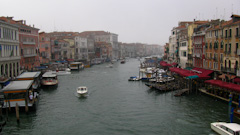 The Grand Canal from the Ponte di Rialto