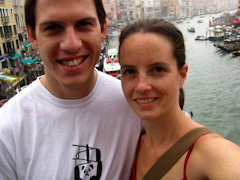 Me and Richard on the Ponte di Rialto