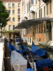 Sleeping Gondola's behind the gardens