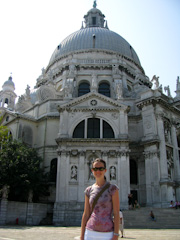 Me in front of the Santa Maria della Salute