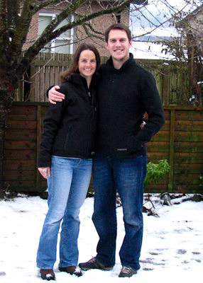 Us in the snow