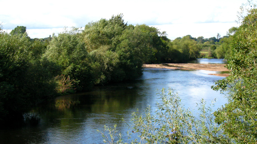 River Wye from the campsite